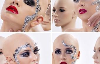 Next top model by Cătălin Botezatu, make-up with bald