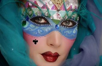 Mirela Vescan make-up academy, Venice mask